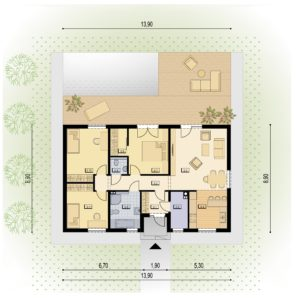 Bungalow-HIT-101A-Grundriss
