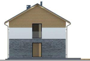 Seitenansicht Rechts Zweifamilienhaus HIT 200B